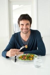 Alimentación saludable masculina